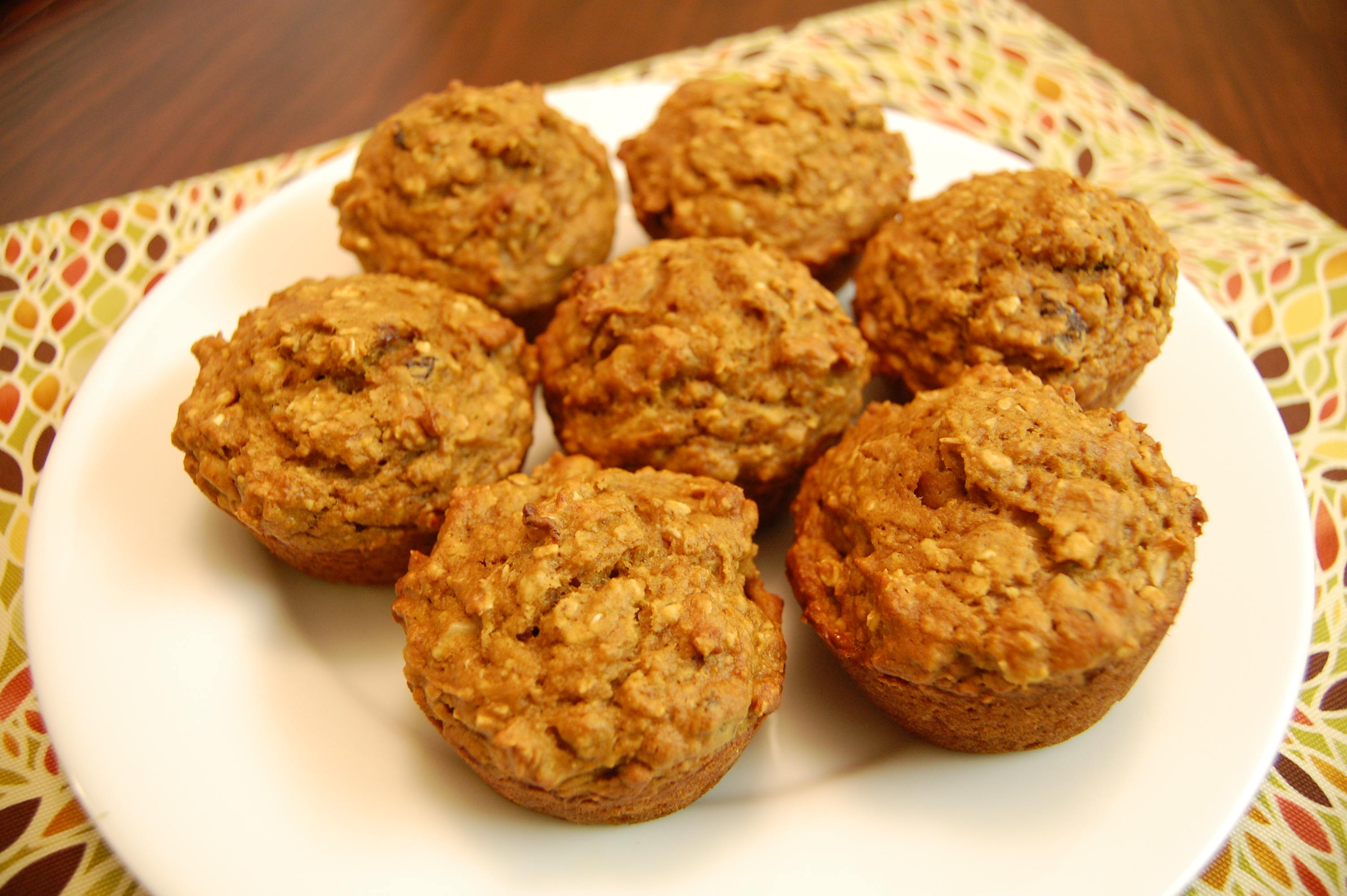 free low fat vegan oatmeal muffins oatmeal muffins with raisins dates ...