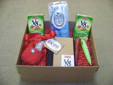V8 Gift Basket