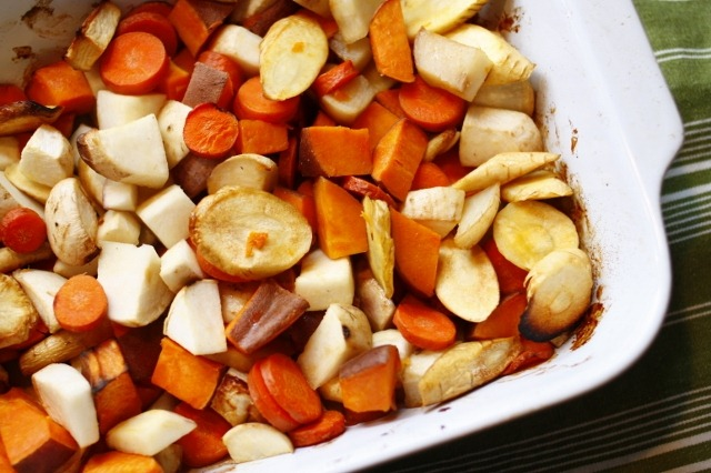 So, when I stumbled upon a recipe for Honey-Roasted Root Vegetables ...