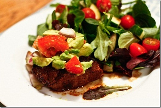 steak dry rub with avocado salsa