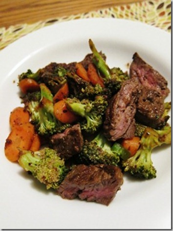 gingery beef and broccoli