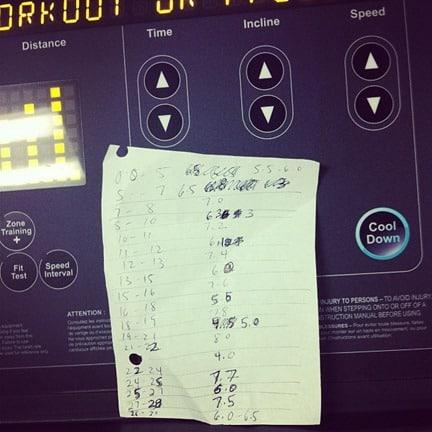 treadmill garmin use on