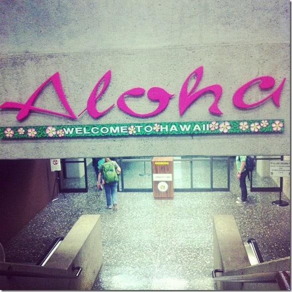 Aloha Honolulu airport