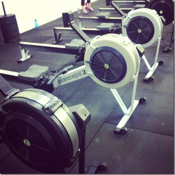 CrossFit rowers