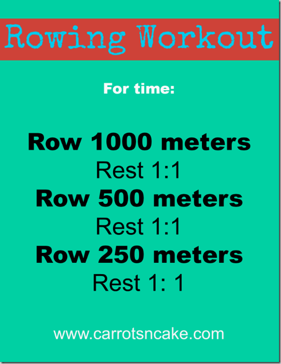 row machine workout for beginners