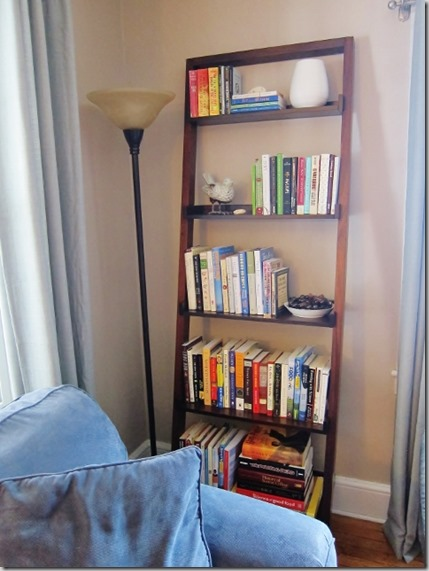 leaning book shelf from Crate & Barrel