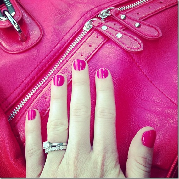 manicure and new purse