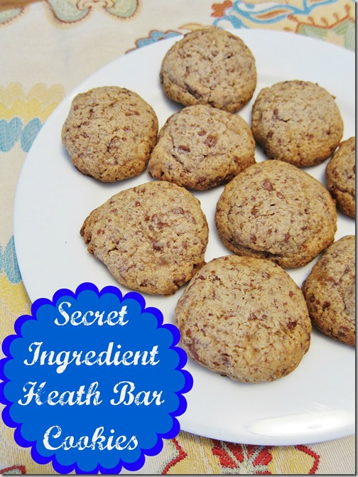 Secret Ingredient Heath Bar Cookies