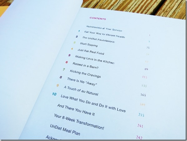 UnDiet Table of Contents
