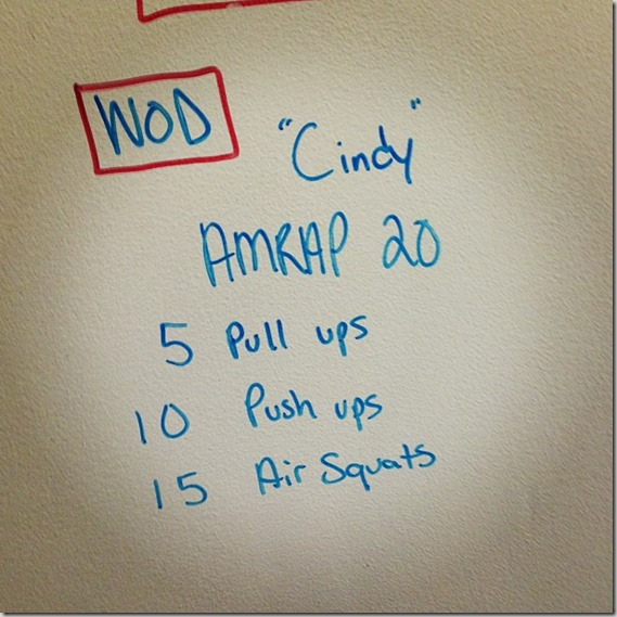 Cindy WOD CrossFit