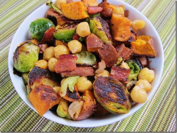 Sweet Potato, Chickpea & Brussels Sprout Salad with Bacon - Carrots '...
