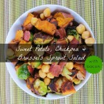 Sweet Potato, Chickpea & Brussels Sprout Salad
