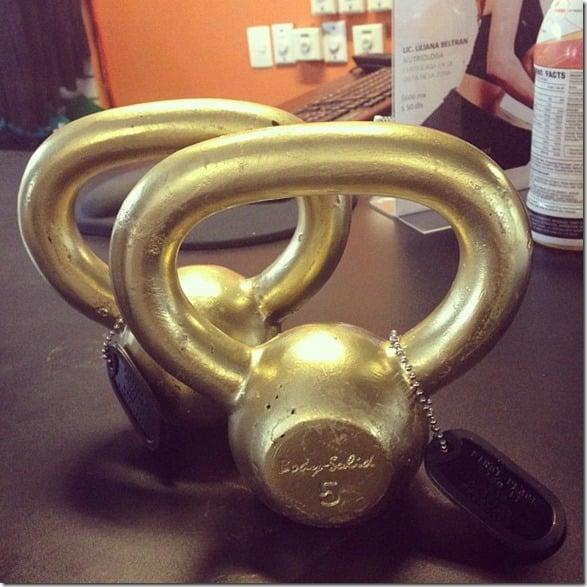 golden kettlebells