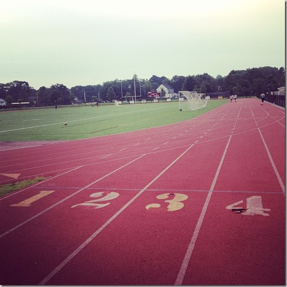 morning track workout