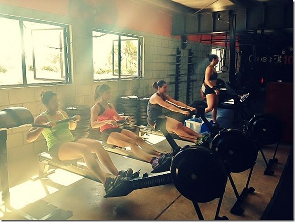 rowing at CrossFit 10