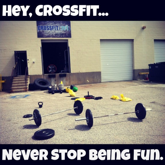 crossfit is fun.