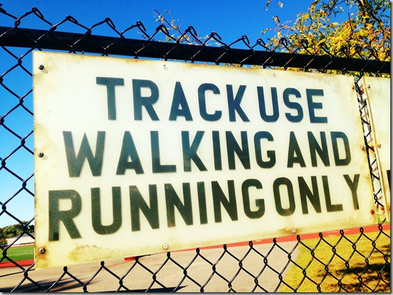 track use walking and running only