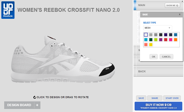 reebok custom design