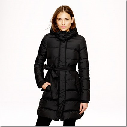 jcrew long puffer coat