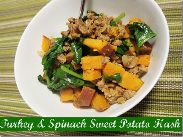 Turkey and Spinach Sweet Potato Hash