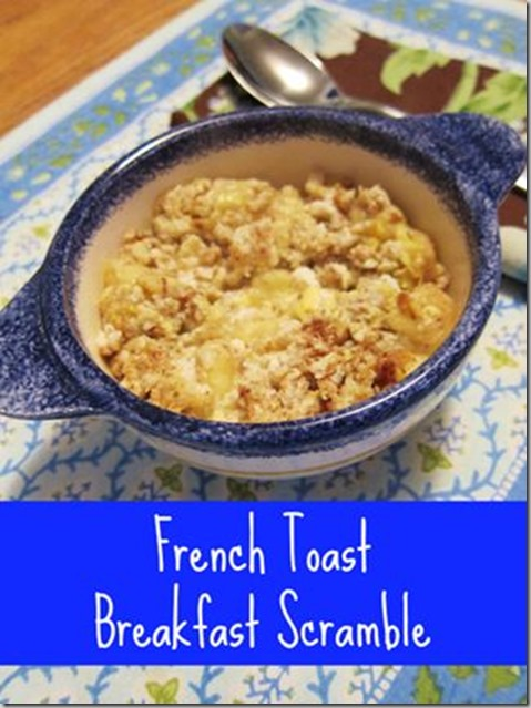french toast breakfast scramble