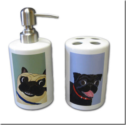 pug_lotion_&_toothbrush_holder_set
