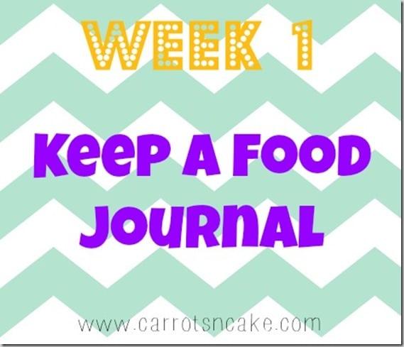 week 1 keep a food journal