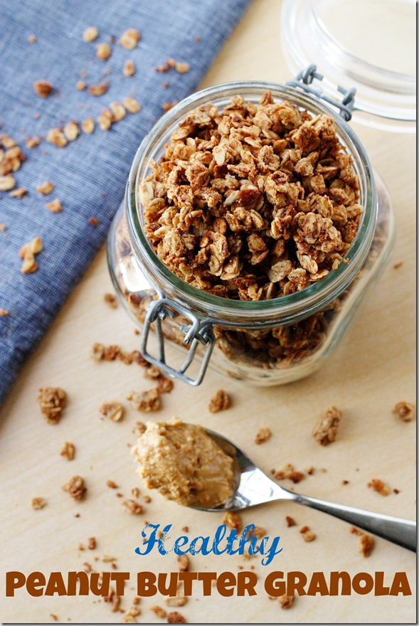 Healthy (& Highly Addictive) Peanut Butter Granola - Carrots 'N' Cake
