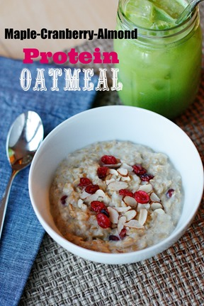 Maple-Cranberry-Almond Protein Oatmeal - Dole Nutrition Institute