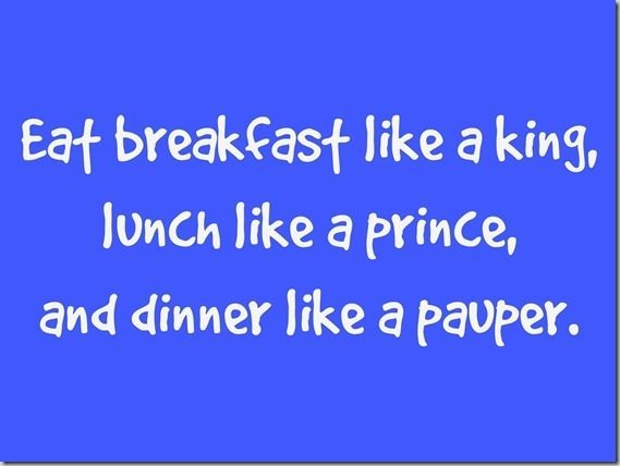 Eat breakfast like a king