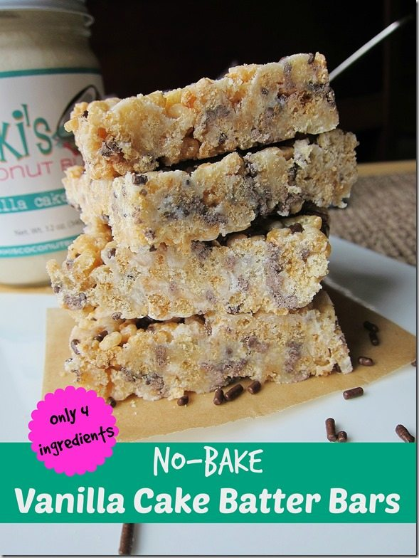 No-Cake Vanilla Cake Batter Bars