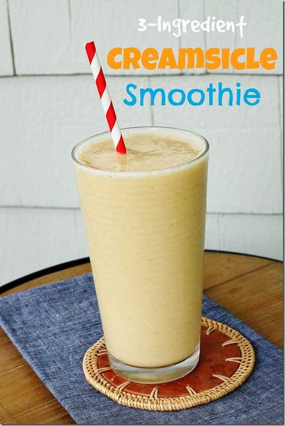 3-ingredient Creamsicle Smoothie
