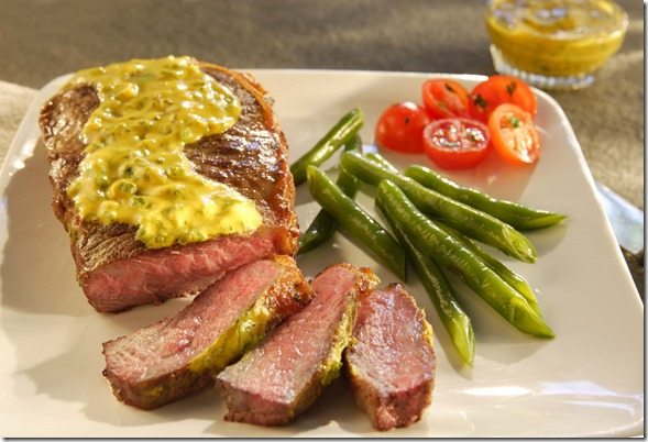 Tangy Mustard Marinated Steaks