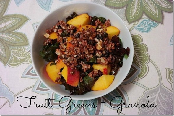 Fruit Greens and Granola