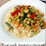 5-minute protein-packed vegetarian stir fry