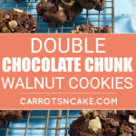 GLUTEN-FREE DOUBLE CHOCOLATE CHUNK WALNUT COOKIES