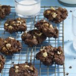 Double Chocolate Chunk Walnut Cookies from the Skinnytaste Cookbook