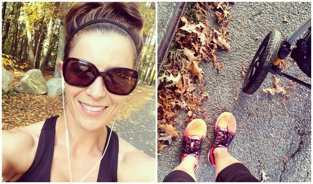 fall running workouts with stroller