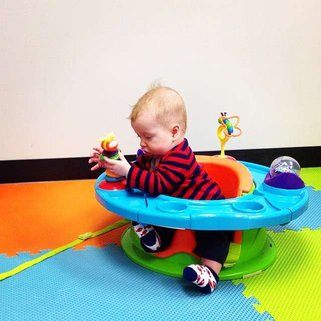 Quinn loved his first daycare experience @kfitbody! #kfit #kfitbootcamp #daycare #southshore #weymouth #fitmom