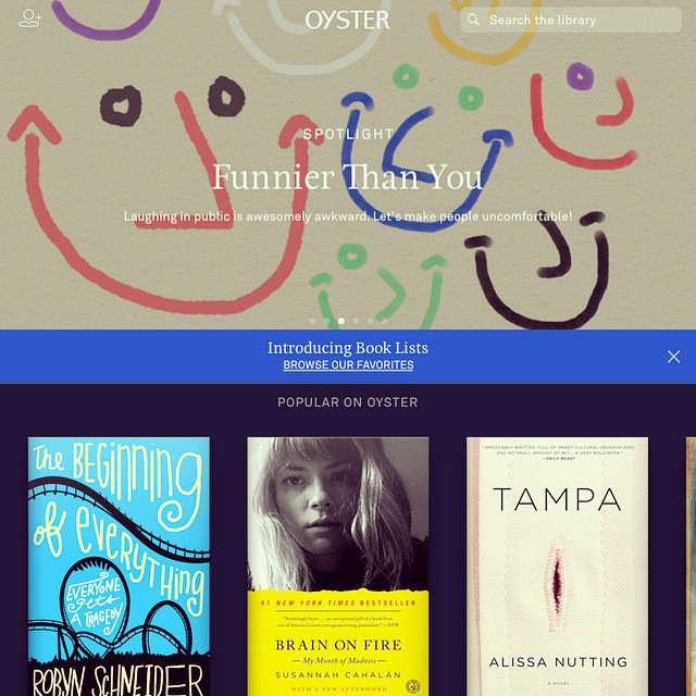 Just signed up for a free 30-day trial of Oyster. What should I read first??? #oyster #read #books #lookingforrecommendations