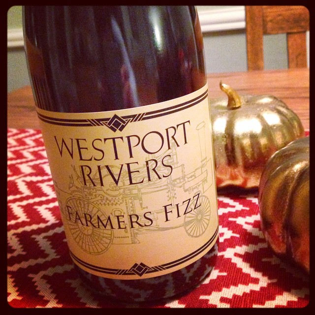 Opening something special tonight! @jessicad528 @dcarloni @moonp1es @nsmileye #westportriverswinery #farmersfizz #wineme