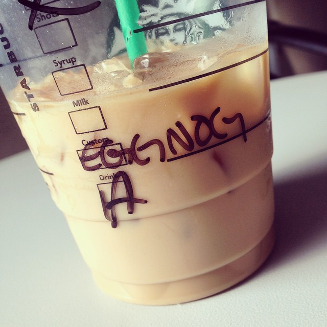 Day 13: Get holiday drinks @starbucks! #24daysoftogetherness #starbucks #eggnog #americano