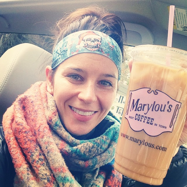 My favorite way to start a Saturday: a workout at #kfitbootcamp + @marylouscoffee! How'd you start your day today? ?☕️??❤️#eggnogicedcoffee #saturday #marylous #kfit