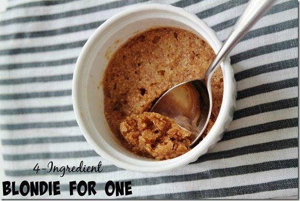 4-Ingredient Blondie for One