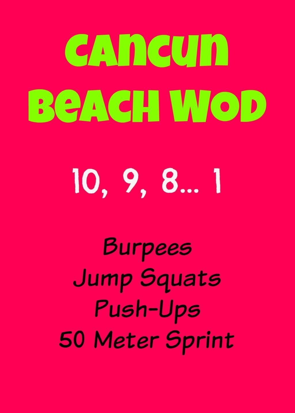 Cancun Beach WOD
