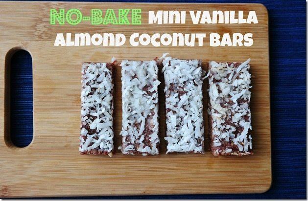 No-Bake Mini Vanilla Almond Coconut Bar