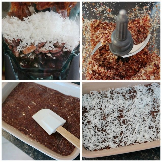 directions for No-Bake Mini Vanilla Almond Coconut Bars