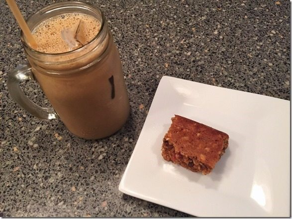 protein shake and bar