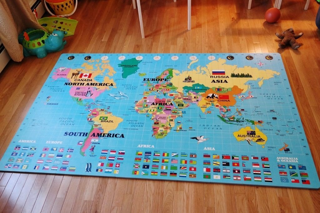 The Time We Put Together a Huge World Map Puzzle – Carrots \'N\' Cake