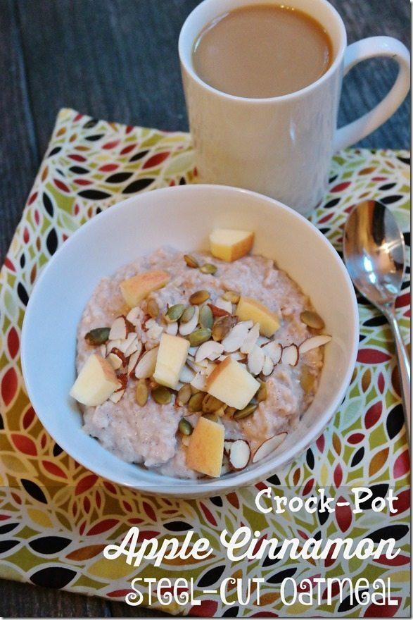 Crock-Pot Apple Cinnamon Steel-Cut Oatmeal